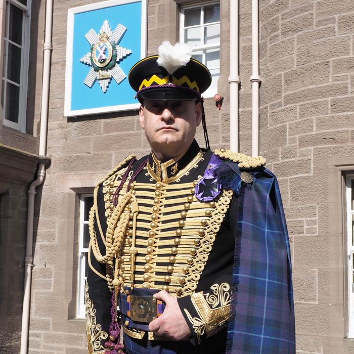 Jacobite Tour's Alba Hussar at the home of the Black Watch, Perth, Scotland.