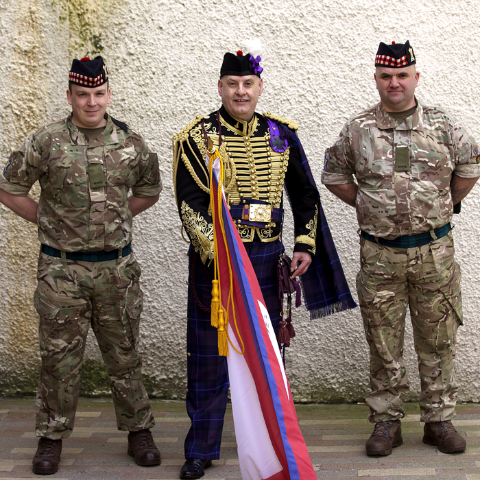 Jacobite Tours Alba Hussar, Black Watch Perth, Scotland. Come join our campaign